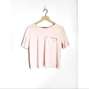 Zara Long Cropped T-shirt